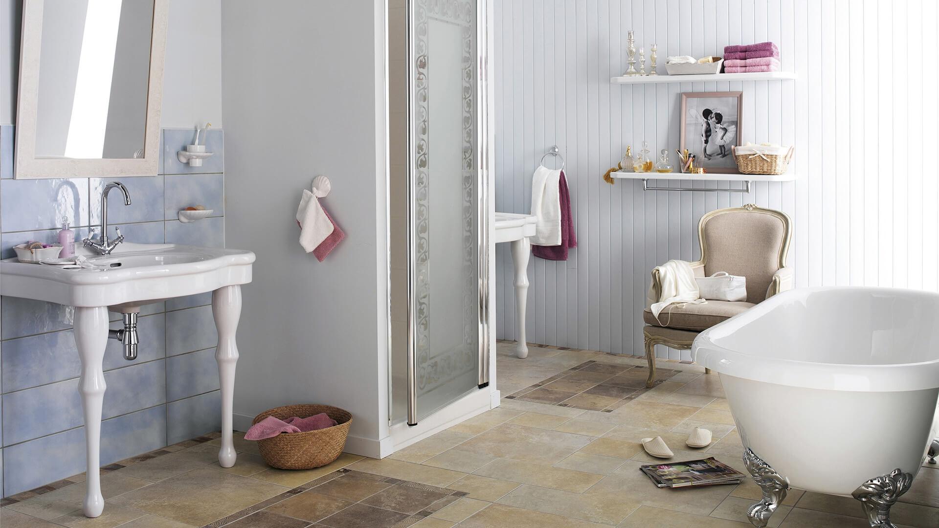 Déco Salle de bains Charme romantique